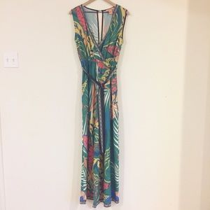 Flying Tomato Sleeveless Botanical Print Jumpsuit